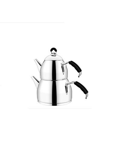 Halley Mini Çaydanlık Siyah-Aksu